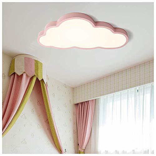 ROCCY 36W Luz de Techo LED,Lámpara De Techo LED Ultrafino 5cm Nubes Creativas Luz De Techo Lámpara De Niños Niños Y Niñas Lámpara De Dormitorio Lámpara Romántica De Techo De Animados Plafón,Rosado