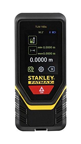 Stanley Laser-Entfernungsmesser TLM165s (Längen-, Flächen-, Volumen- und Höhenmessung, Bluetooth Datenübertragung (iOS und Android), inkl. Aufbewahrungstasche und Batterie) STHT1-77139