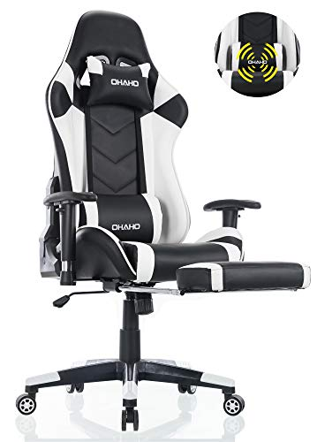 OHAHO Gaming Chair Racing Style Office Chair Adjustable Massage Lumbar...