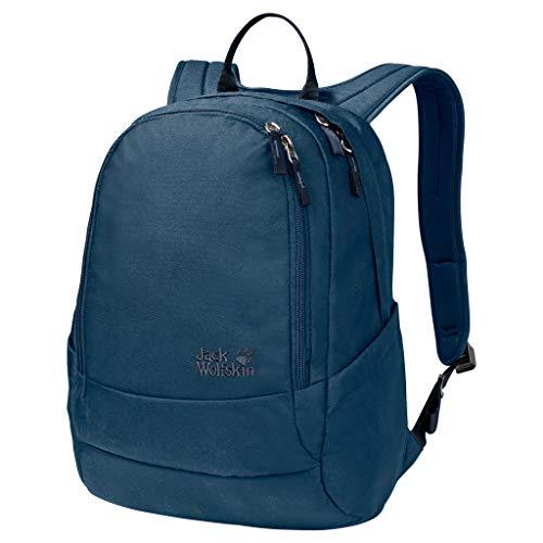 Jack Wolfskin Perfect Day, bequemer Rucksack mit breiten Gurten, DIN-A4-tauglicher Tagesrucksack, Backpack mit guter Lastenverteilung für Alltag und Freizeit, poseidon blue, ONE SIZE