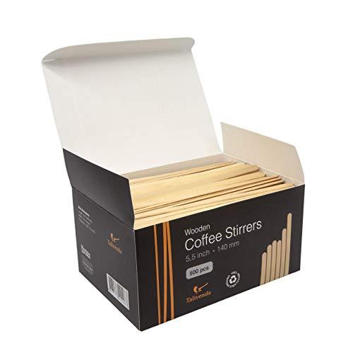 Cucchiaini da caffè usa e getta, bacchette in legno, bastoncini di legno, spatola, cucchiaio in legno, bastoncini per gelato in legno, set di posate da, HoReCa, 14 cm, 500 palette