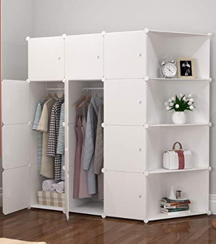 llzshoutao Modulära hyllor förvaringsskåp, bärbara garderober, vikbara garderober, kubdesign, lämplig för kläder, skor, leksaker och böcker @12-2 hörnskåp