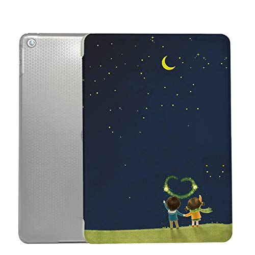 iPad PRO 9.7 Case 2016 Slim Smart Protective Cover with Soft TPU Honeycomb Clear Back & Viewing/Typing Stand for iPad PRO 9.7' Auto Sleep/Wake Printed- Night Sky