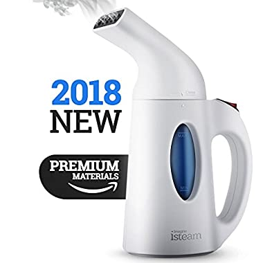 Steamer For Clothes, Handheld Clothes Steamers.4-in-1 Powerful Steamer Wrinkle Remover. Clean, Sterilize and Steamer Garment and Soft Fabric. Portable, Compact-Travel/Home.Ultrafast-100% Safe - isteam