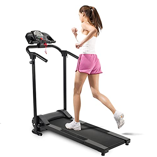 Folding Treadmill Electric Motorized Running Machine Home Gym w/APP, Cup Holder & MP3 Player