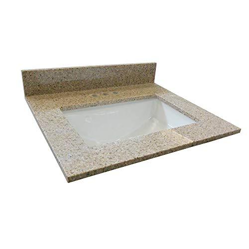"""Design House 563239 Granite Vanity Top, 61"""", Golden Sand"""
