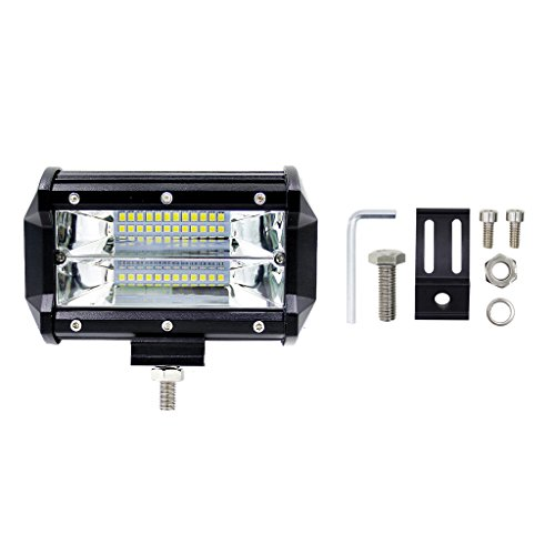 Autoparts 5'' DC 10-48V 72W LED Work Bar Light, Flood light Driving Lamp For Jeep Truck Boat Offroad