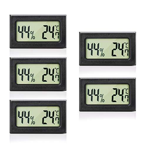 MAVORI® Digital Mini Innen Thermometer Hygrometer - Zimmerthermometer und Luftfeuchtigkeitsmessgerät für Wohn- und Büroräume, Keller, Terrarium, Auto - NEUES MODELL (5)