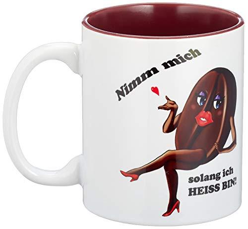 ß home&living Große Kaffeetasse mit Spruch Nimm Mich solang ich heiss Bin!