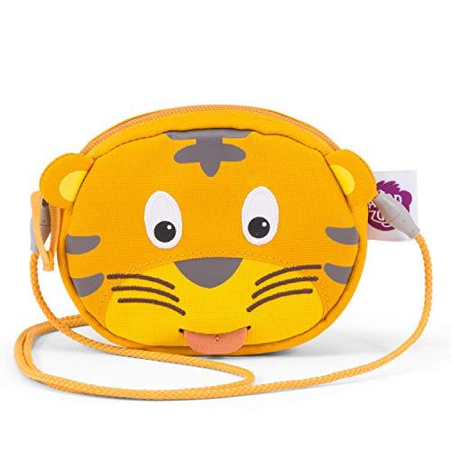 Affenzahn Unisex Kinder Timmy Tiger Geldbeutel, Gelb, 12cm x 10cm x 3cm