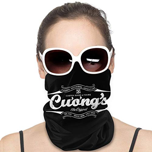Cuongs Archer Unisex Neck Gaiter Warmer Windproof Face Mask Scarf Bandana Balaclava Black