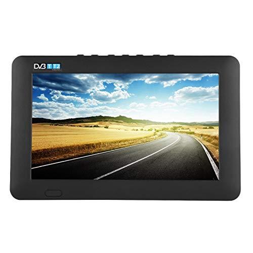 TV Portatile per Auto DVB-T2 TV Digitale ad Alta sensibilità 1080P HD TV per Auto Supporto per Scheda TF AV Porta USB(9 Pollici)