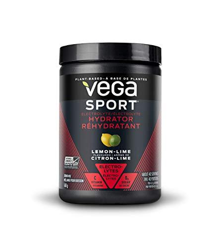 Vega Sport Electrolyte Hydrator Lemon Lime (40 Servings, 170g) - Keto-Friendly, Gluten Free, Non Dairy, Vegan, Sugar Free, Non GMO