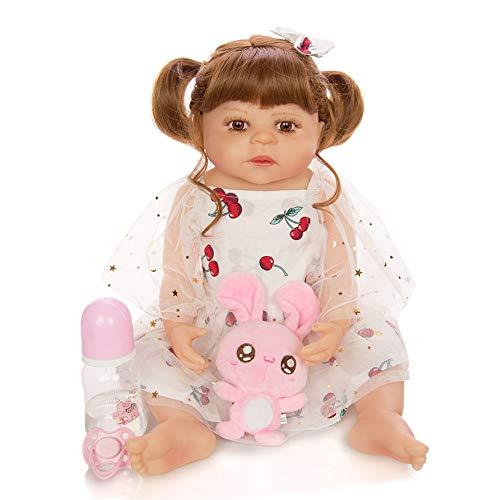 Mlightting@ 55cm/22inch Muñecos Reborn, Bebe Reborn Juguettos, Muñeca La Moda del Renacimiento De Los, Hermoso Regalo para Niños,C