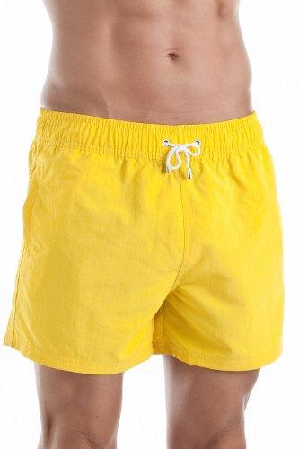 HOM Herren Marine Chic Boxer Short Badehose, gelb, XX-Large