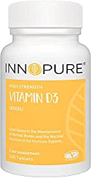 Innopure Vitamin D3 4,000 IU 1 Year Supply 365 Tablets