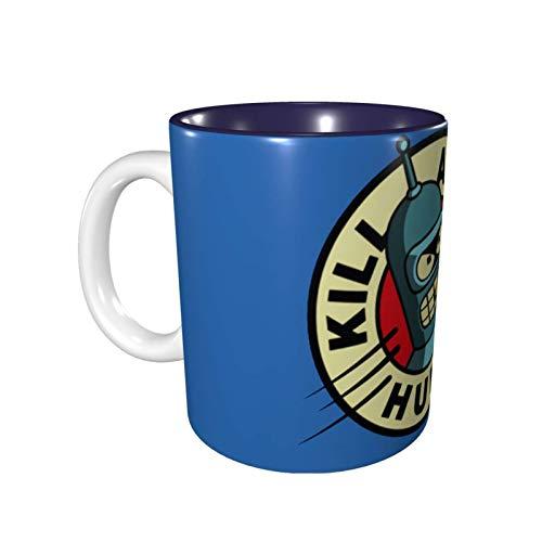 IUBBKI Futurama Cup, taza de café, taza de cerámica de anime de dibujos animados divertidos, regalo único