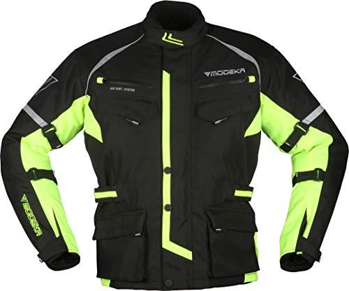 Modeka Tourex II Motorrad Textiljacke Schwarz/Neon 5XL