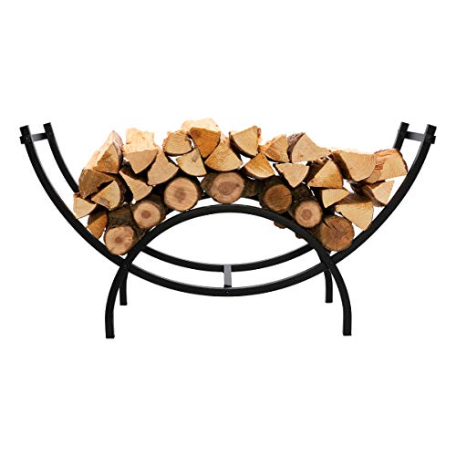 Review Of DOEWORKS Curved Heavy Duty Indoor/Outdoor Firewood Racks 40 Inches Log Rack Half Round for...