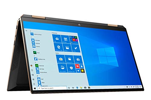 HP Spectre Touch x360 13-AW000 Poseidon Blue/Gold Convertible Laptop 10th Gen Quad Core Intel i7 up to 3.9GHz 16GB DDR4 32GB Optane (48 Total Memory) 1TB SSD 13.3' FHD Gorilla Glass (Renewed)