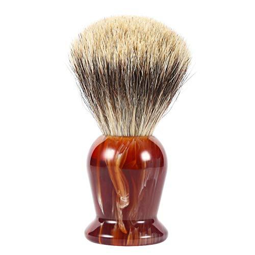 Artibetter Brocha de Afeitar Brocha de Tejón Brocha de Barba Cepillo de Limpieza de Barba Cepillo de Limpieza de Barba Accesorio de Cuidado de Barba para Hombres Adultos Hombres (Marrón)