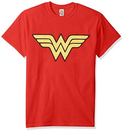 Trevco Men's Woman Short Sleeve T-Shirt, Wonder Red, X-Large