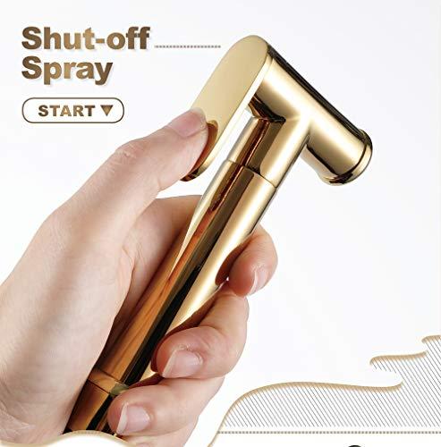Premium RVS Diaper Spuitbus voor Toilet katoenen luiers Personal, Spuitbus shattaf toilet bidet Hoofd van de douche (Gold)