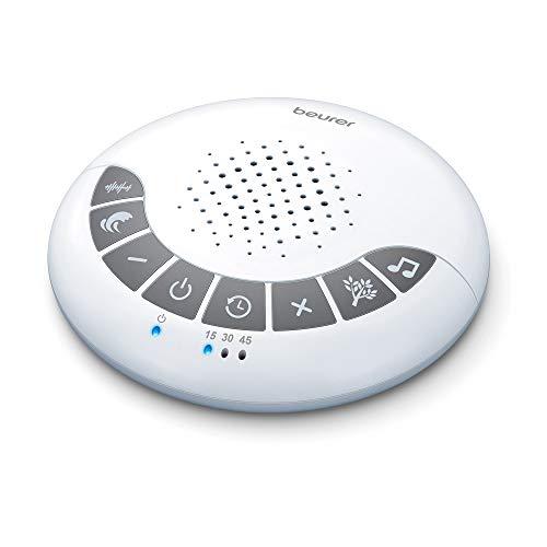 Beurer SL 15 DreamSound Einschlafhilfe mit Ton, 4 einstellbare Melodien, Kopfhöreranschluss, Timer mit Abschaltautomatik und verstellbare Lautstärke