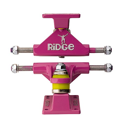 Ridge Skateboard Achsen für Mini Cruiser, Pink, TRUCKS-R22