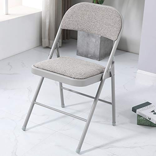 Charles Jacobs Cushioned Fabric Folding Chair with a Grey Frame (1)