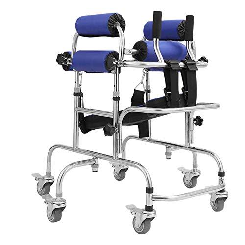 YUXINCAI Rehabilitación Infantil Andador con Ruedas Parálisis Cerebral Entrenamiento De Rehabilitación para Discapacitados, Ayuda para Caminar para Personas Discapacitadas Y con Movilidad Limi