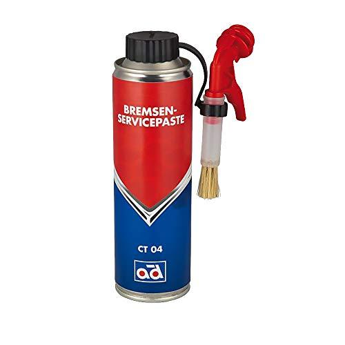 AD Chemie Bremsenservicepaste CT 04 250ml mit Pinsel für Reparaturen an Scheiben- und Trommelbremsen Korrosionsschutz Spritzwasserbeständig verhindert Quietschgeräusche 41195967