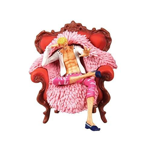 Siyushop One Piece Portrait of Pirates: One Piece GK-Statue Donquixote Doflamingo PVC-Figur Modell Sammlerstück Action-Figur for Kinder Erwachsene Und Anime-Fans - High 9 Zoll