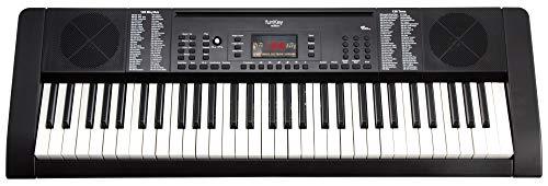 Funkey 61 Edition Keyboard (128 Sounds, 128 Rhythmen, 10 Demo Songs, Netzteil, Notenständer) schwarz