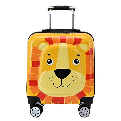 ZZLHHD Children's Rolling Backpack,Cartoon trocket, small light loader-Yellow B,Girls Rolling Backpack with Wheels