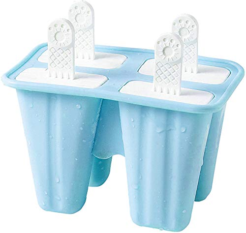 Popsicle Molds 4 Pieces Silicone Ice Pop Molds BPA Free Popsicle Mold Reusable Easy Release Ice Pop Maker