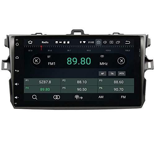 ROADYAKO Octa Core Média Central pour Toyota Corolla 2006 2007 2008 2009 2010 2011 Android 8.0 Radio stéréo de Voiture avec Navigation GPS 3G WiFi Lien en Miroir RDS FM AM Bluetoot
