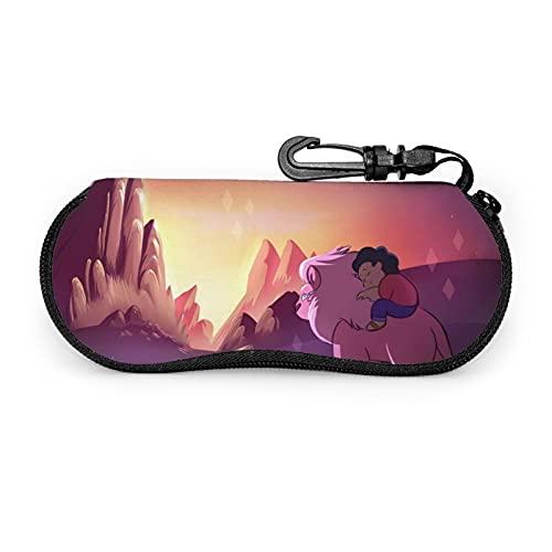 Steven Universe - Funda para gafas de sol con mosquetón (neopreno, ultraligera, portátil, con cremallera, para hombres y mujer)