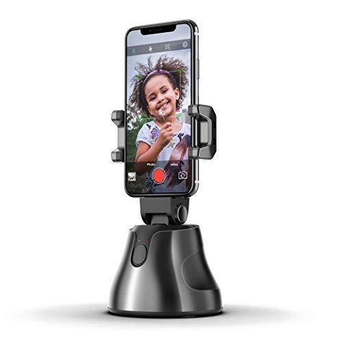 Yeelan Auto Selfie Stock Clever Schießen Halter Smartphone SchussStand Persönlicher Roboter Kameramann 360 ° Drehung Gesichtsverfolgung Kamera Telefonhalterung mit Sport Inception (Schwarz)