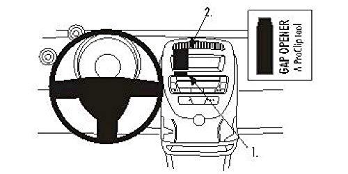 Brodit ProClip Support de Fixation pour Citroen C1 06-09 Centre de Montage Noir