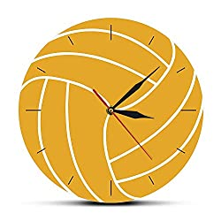 CVG Gifts for Women Volleyball Ball 3D Visual Print Wall Clock Silent Movement Modern Timepieces Hanging Wal Watch Volleyball Gift Sports Home Decor Gifts for Men