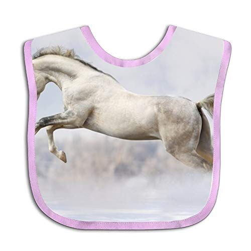 Personalized Jump Horse Baby Bib Toddler Absorbent Drool Teething