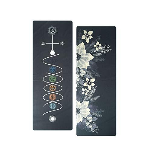 QWERTYU XIAOHUIME Oefening Mat Tafelkleed Yoga handdoek, bedrukt yoga mat handdoek - zweet en slip, geschikt voor hete yoga, pilates en oefening, kan gebruik maken van voor en achter reizen yoga mat