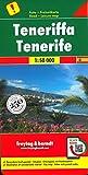 Tenerife, mapa de carreteras. Escala 1:50.000. Freytag & Berndt.: Besondere Ausflugsziele. Cityplan. Ortsregister mit Postleitzahlen: AK 0523 (Auto karte)
