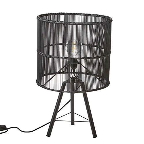 Mica Decorations Tafellamp Joice zwart - 75 x Ø 32 cm