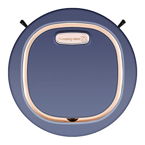 USB Charging Sweeping Robot Smart Vacuum Cleaner Household Smart Cleaning Tool,1200PA Strong Suction, Applicable Floor: Flat Floor Such as Marble, Ceramic Tile, Wood Floor, etc. (Blue)