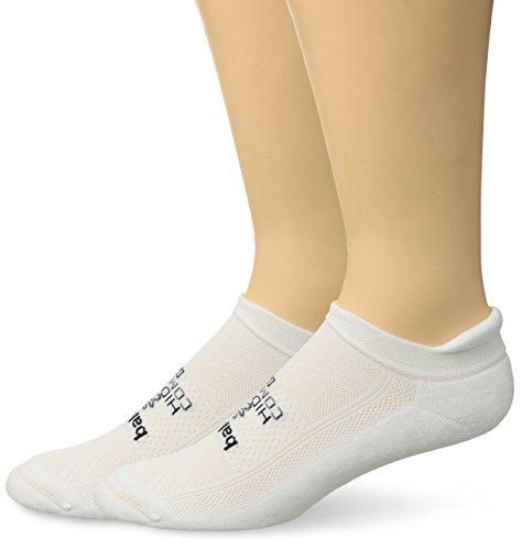 Balega 2 Pair Hidden Comfort Tab Running Sock White Large