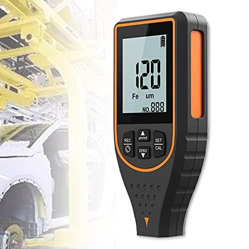EnweMahi Medida Espesor Pantalla HD con RetroiluminacióN, Medidor Pintura RotacióN de 180 ° AutocalibracióN, Probador Profundidad Metal para AutomóVil, Metal