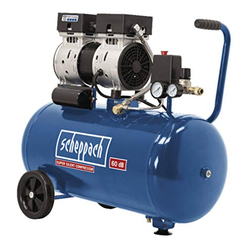 Scheppach Kompressor HC50Si (750 Watt 50 L, 8 bar, Ansaugleistung 170L/min, ölfrei)