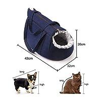YOUPIN 猫のキャリングバッグのための猫のキャリアキャリア猫のバックパックパニエのハンドバッグ猫旅行ぬいぐるみ猫バッグベッド子犬ペットキャットアクセサリー (Color : Blue)